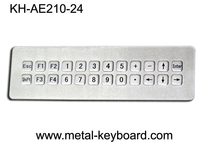 IP65 Waterproof Mountable Stainless Steel Industrial Keyboard with 24 Keys