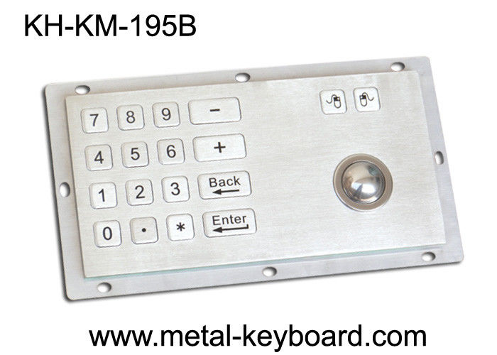 Panel Mount Industrial Industrial Keyboard with Trackball , 16 Keys Digital Keyboard