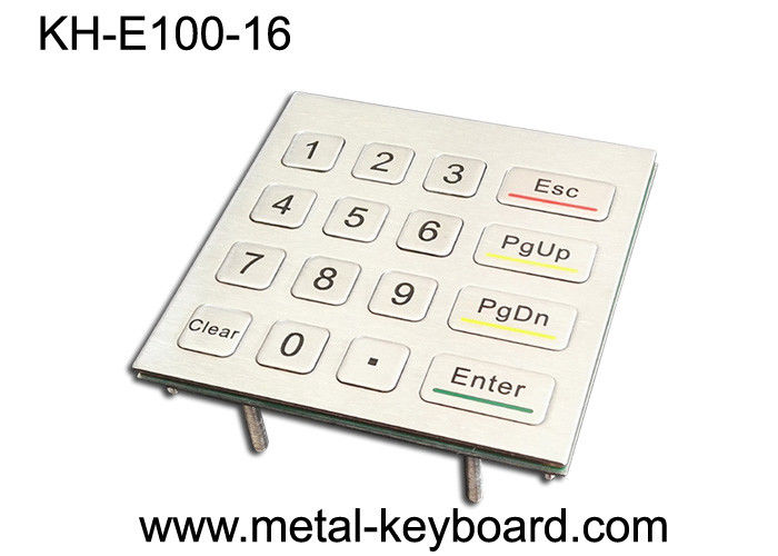 16 Keys 4X4 Matrix Metal Keypad Laser Engraved Characters For Access Control System