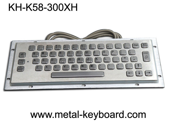 Waterproof Vandalproof Industrial Metal Keyboard Stainless Steel Customized Design